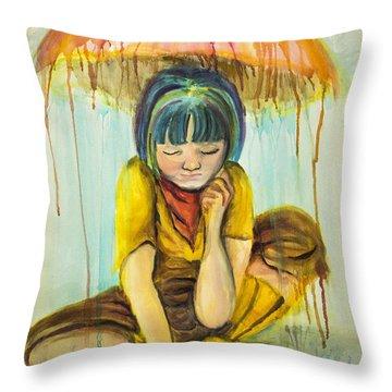 Rain Day  Throw Pillow