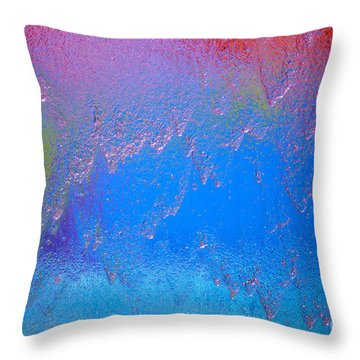Rain Drops Abstract Throw Pillow by Haleh Mahbod