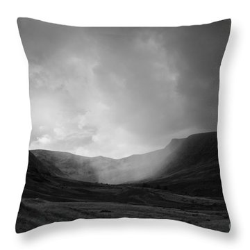 Rain In Riggindale Throw Pillow
