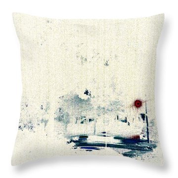 Rain Throw Pillow by Jacqueline McReynolds