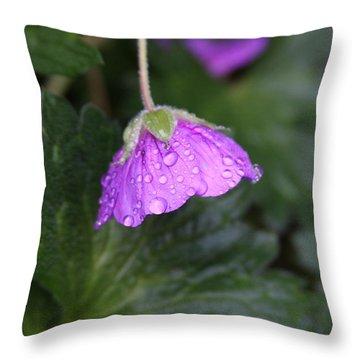 Rain Kissed Throw Pillow