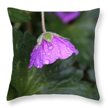 Rain Kissed Throw Pillow by Lynn-Marie Gildersleeve