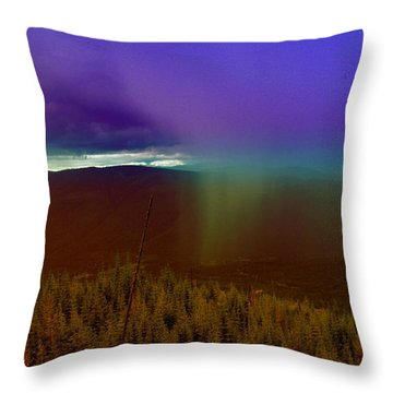 Rain North Of Bonners Ferry Throw Pillow by Jeff Swan