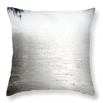 Rain On The Flint Throw Pillow by Kim Pate