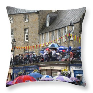 Rain On The Parade Throw Pillow by Suzanne Oesterling