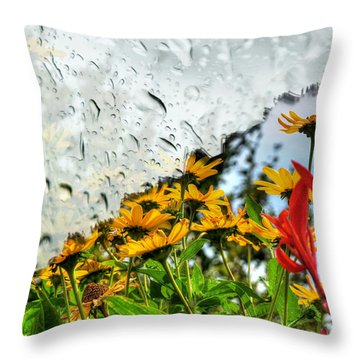 Rain Rain Go Away... Throw Pillow