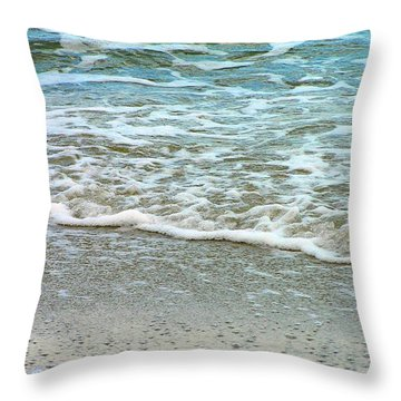 Rain Sea  Throw Pillow