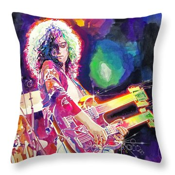 Rain Song Jimmy Page Throw Pillow