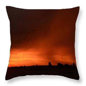 Rain Squall Sunrise Throw Pillow