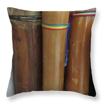 Rain Sticks Throw Pillow