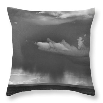 Rain Storm In Wyoming Throw Pillow by Ron Roberts