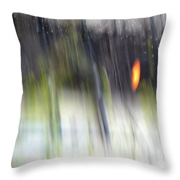 Throw Pillow featuring the photograph Rain Streaked City Scenes by Chris Anderson