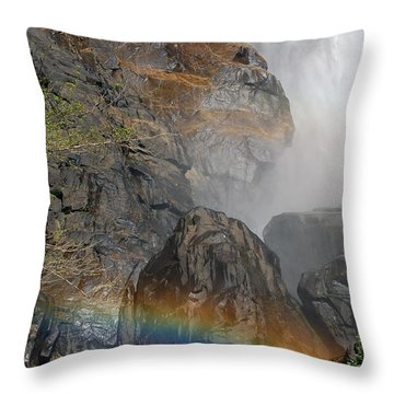 Rainbow And Mist Throw Pillow