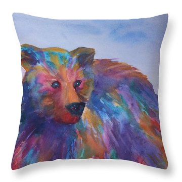 Rainbow Bear Throw Pillow