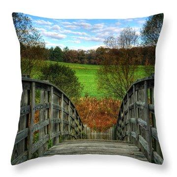 Rainbow Bridge Brasstown Nc Throw Pillow