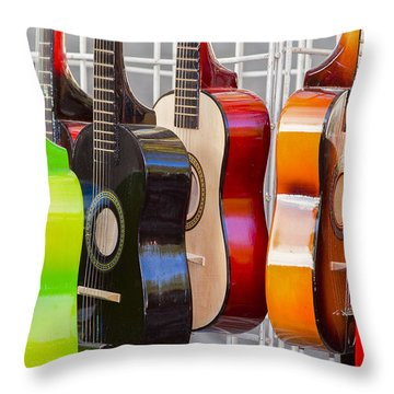 Rainbow Throw Pillow by Caitlyn  Grasso