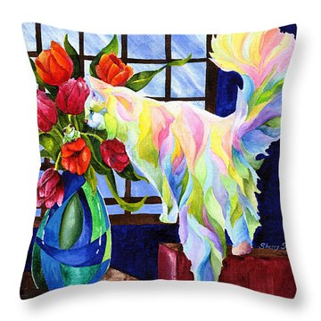 Rainbow Connection Throw Pillow