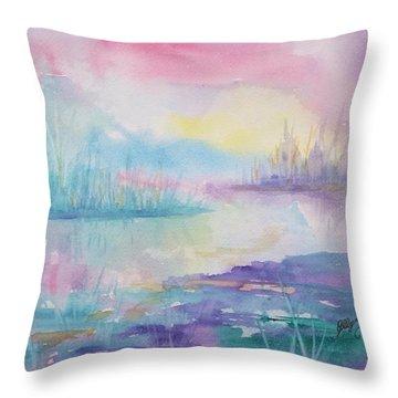Rainbow Dawn Throw Pillow