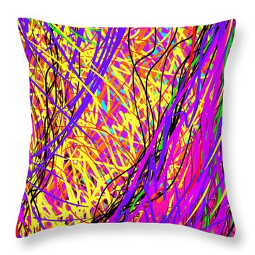 Rainbow Divine Fire Light Throw Pillow by Daina White