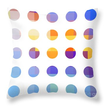 Rainbow Dots  Throw Pillow by Pixel Chimp