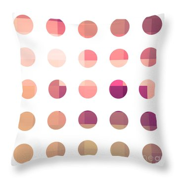 Rainbow Dots Rose Throw Pillow by Pixel Chimp