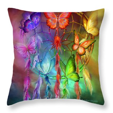 Rainbow Dreams Throw Pillow