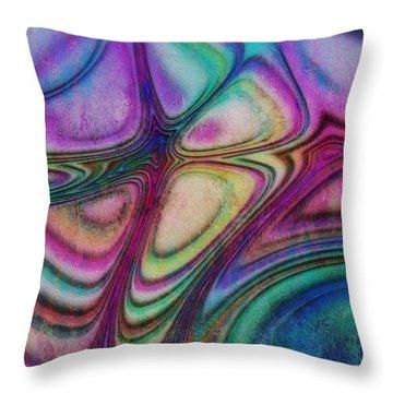 Rainbow Drops IIi Throw Pillow
