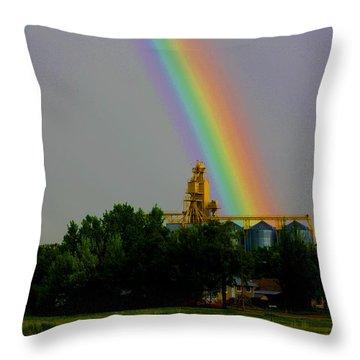 Rainbow Elevator Throw Pillow