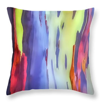 Rainbow Eucalyptus 2 Throw Pillow