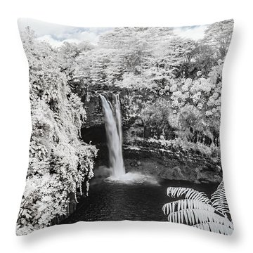 Rainbow Falls In Infrared 1 Throw Pillow
