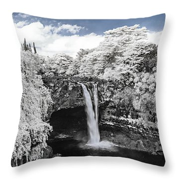 Rainbow Falls In Infrared 2 Throw Pillow