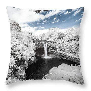 Rainbow Falls In Infrared 3 Throw Pillow