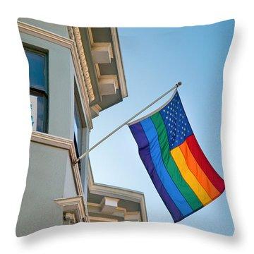 Rainbow Flag Marriage Equality Throw Pillow