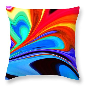 Rainbow Flare Throw Pillow by Chris Butler