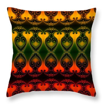 Throw Pillow featuring the digital art Rainbow Fractal Pattern by Clayton Bruster