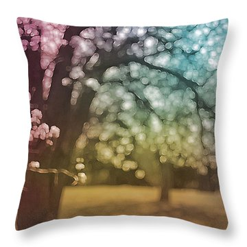 Rainbow Hawthorn Throw Pillow