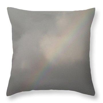 Rainbow Heaven Throw Pillow