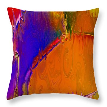 Rainbow In A Bottle Throw Pillow by Omaste Witkowski