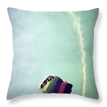 Rainbow In Motion Throw Pillow by Trish Mistric