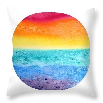 Rainbow Landscape  Throw Pillow by Susan  Dimitrakopoulos
