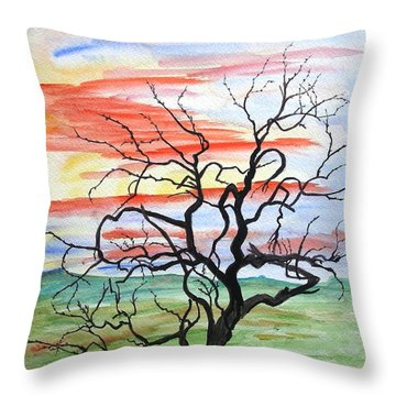 Rainbow Mesquite Throw Pillow