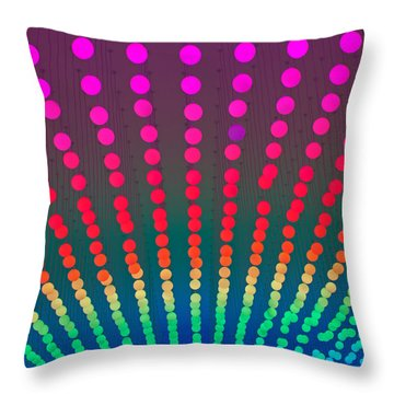 Throw Pillow featuring the photograph Rainbow Of Lights by Jean Haynes