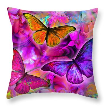 Rainbow Orchid Morpheus Throw Pillow by Alixandra Mullins