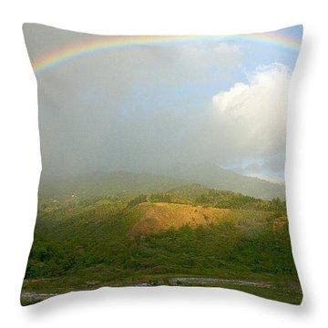 Rainbow Over Boquete Throw Pillow by Heiko Koehrer-Wagner