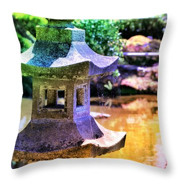 Rainbow Pagoda Throw Pillow