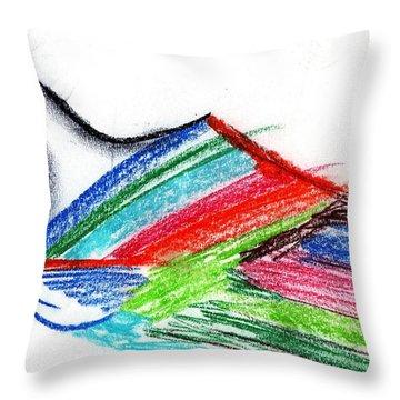 Rainbow Paintbrush Throw Pillow
