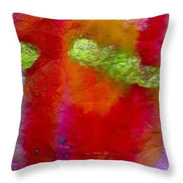 Rainbow Passion Throw Pillow by Angela L Walker