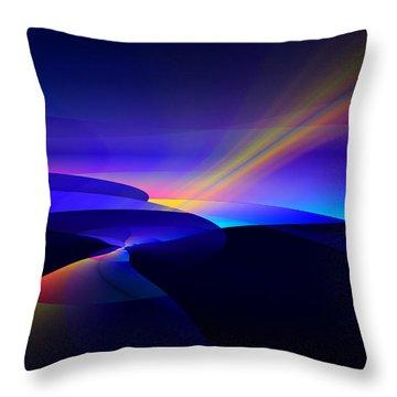 Rainbow Pathway Throw Pillow by GJ Blackman