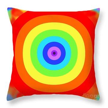 Rainbow Reality Throw Pillow by Mariola Bitner