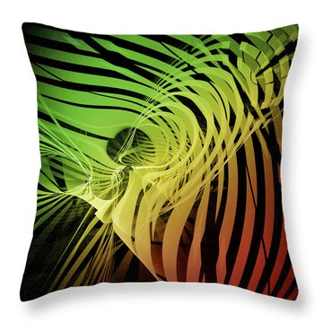 Rainbow Ribs Throw Pillow